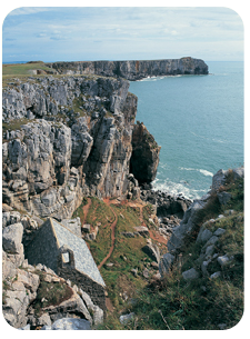 Cliffs at Tenby